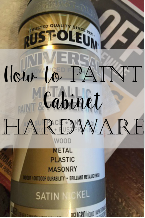 Superb Our Hopeful Home How To Spray Paint Cabinet Hardware Like A Pro Interior Design Ideas Oteneahmetsinanyavuzinfo