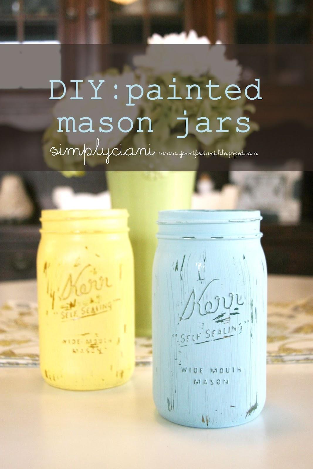 Diy Mason Jar Flower Wall Decor: DIY: Painted Mason Jars