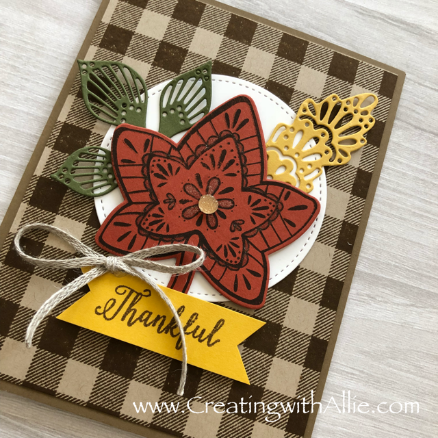 Check out this post to get some tips on how to a beautiful card using the Falling for leaves bundle!!!  www.creatingwithallie.com #stampinup #alejandragomez #creatingwithallie #videotutorial #cardmaking #papercrafts #handmadegreetingcards #fun #creativity #makeacard #sendacard #stampingisfun #sharewhatyoulove #handmadecards #friendshipcards