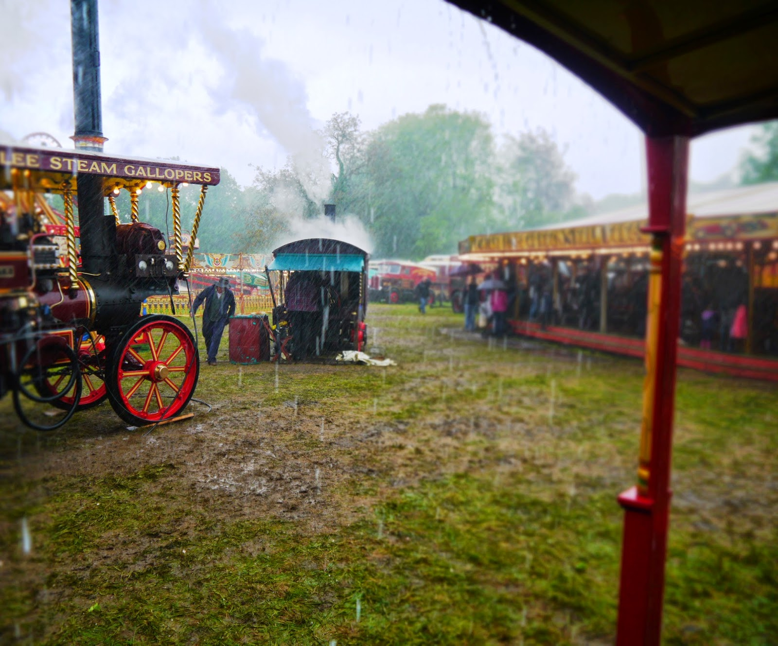 Carters Steam Fair in the rain