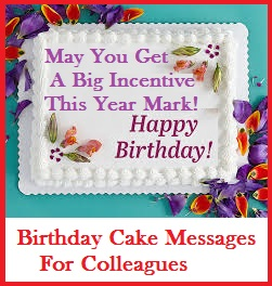 Birthday Cake Wordings Colleagues