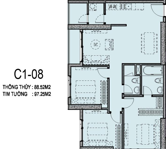 can-ho C1-08-vinhomesd'capital-tran-duy-hung