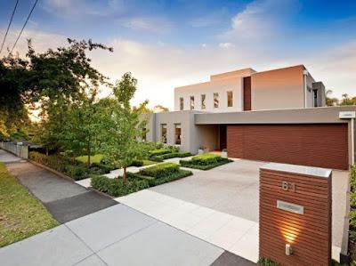 Desain Taman Depan Minimalis Modern