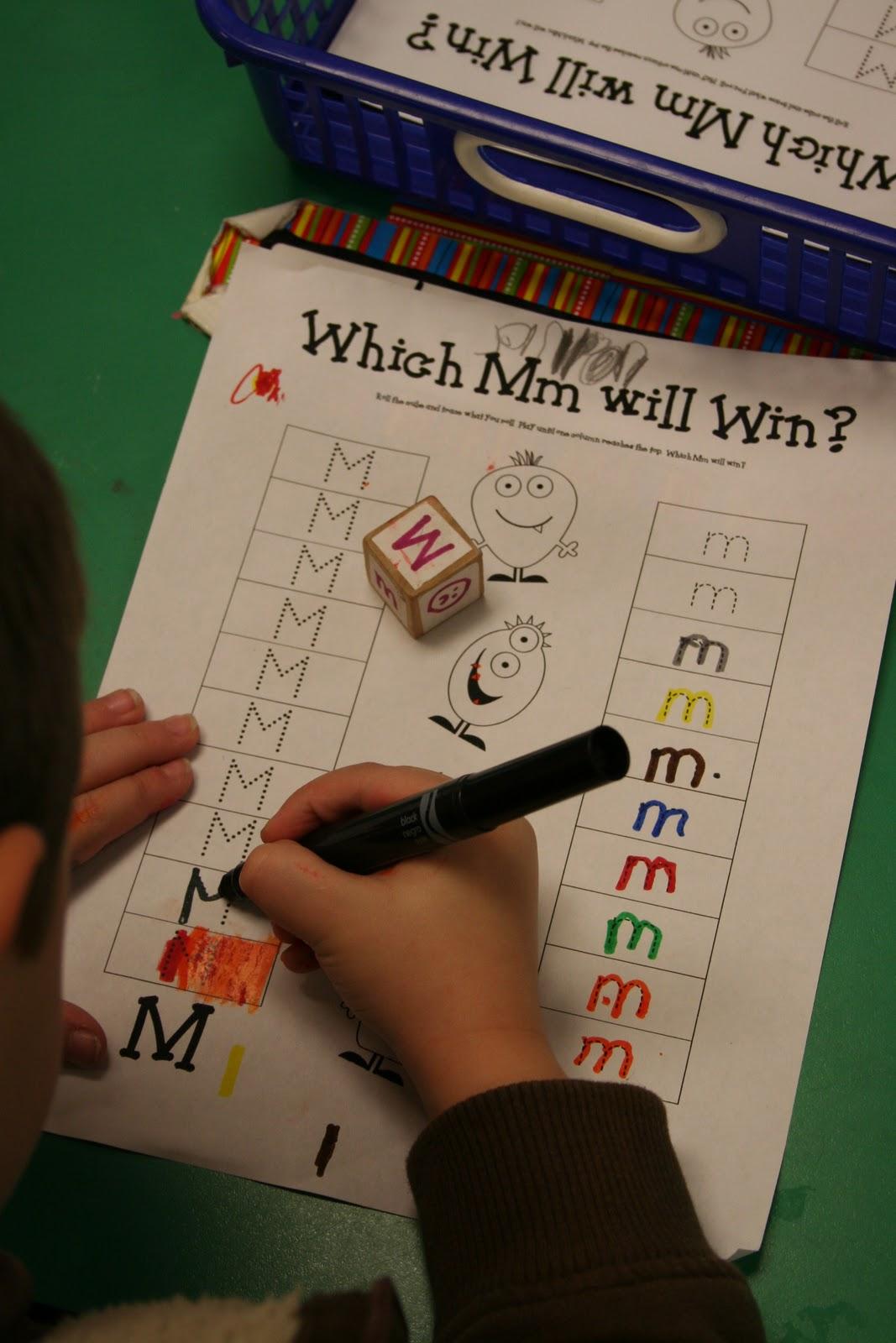 Educational Creativity Literacy Center Letter Work