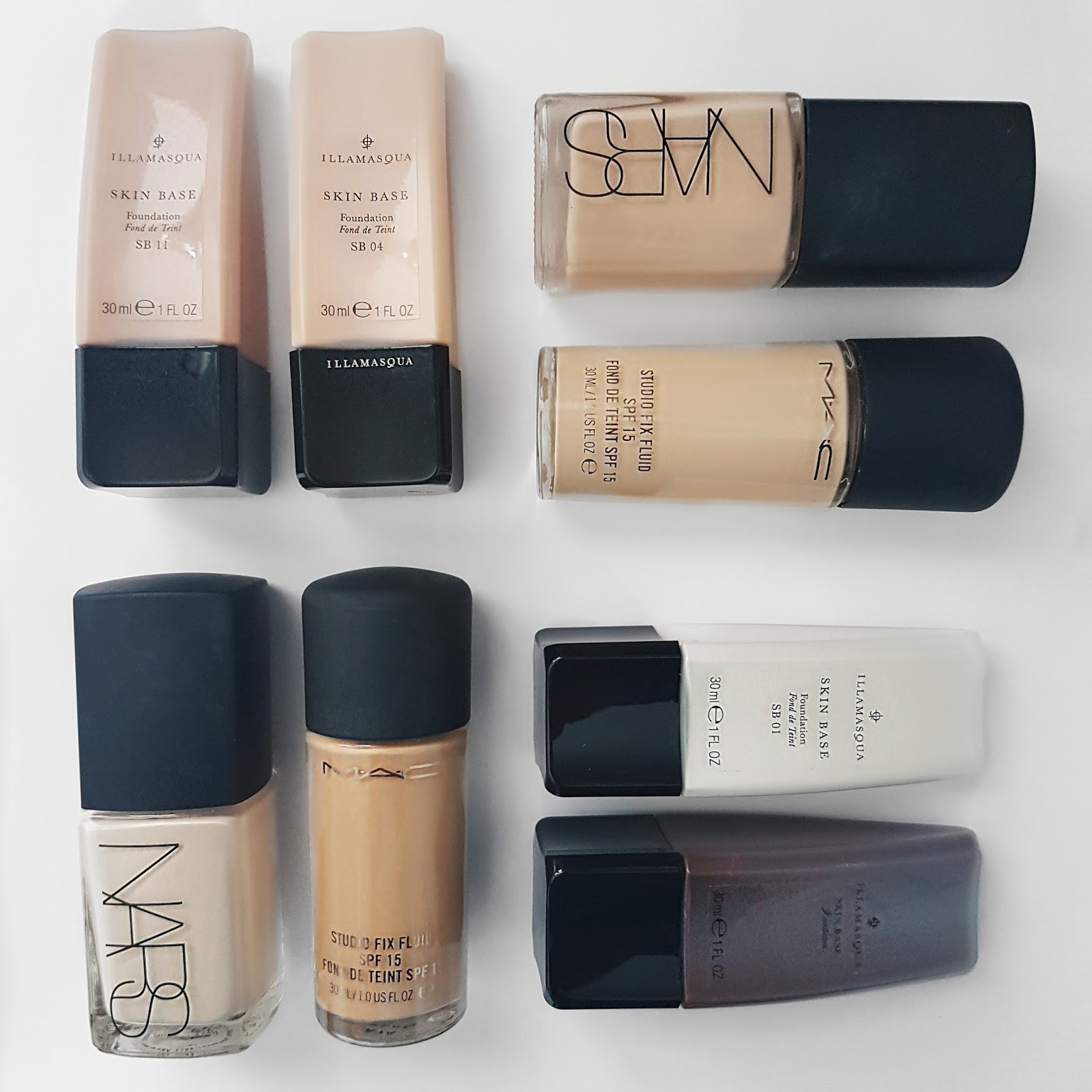 Nars and Illamasqua Foundations