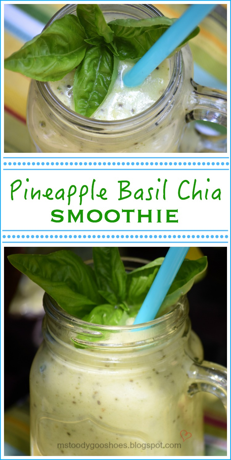 Pineapple Basil Chia Smoothie | Ms. Toody Goo Shoes