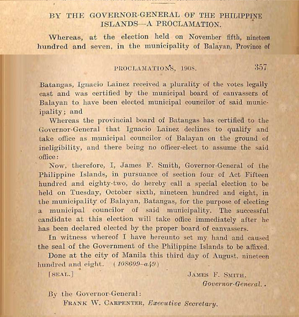 Scan of the proclamation, English version.