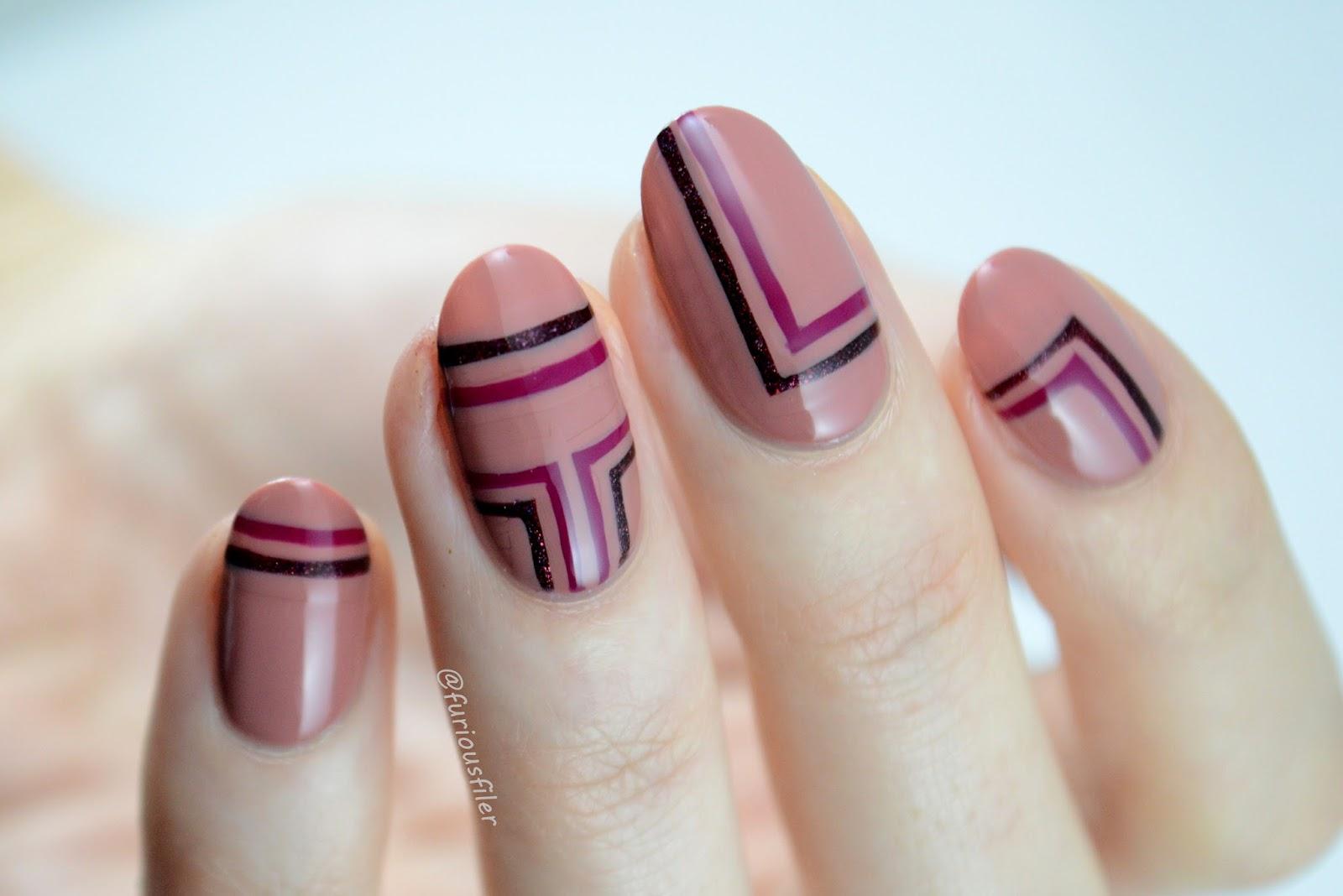 geometric stripes nude cirque colors furious filer