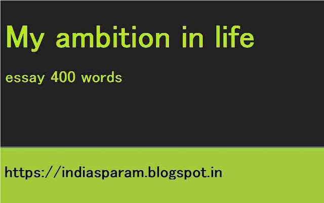 my ambition in life essay 400 words