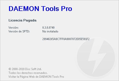 DAEMON Tools Pro 8.3.0.0749 Full Español