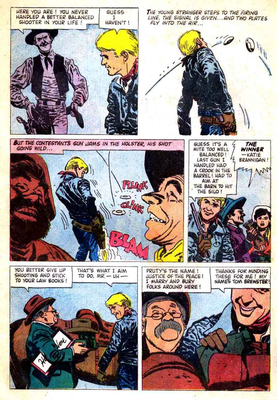 Sugarfoot / Four Color Comics #907 dell western comic book page art by Alex Toth