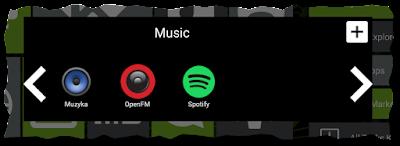 Folder Muzyka zawierający w sobie 3 aplikacje do odtwarzania muzyki