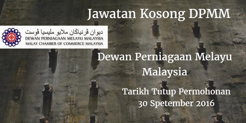 Jawatan Kosong DPMM 30 September 2016