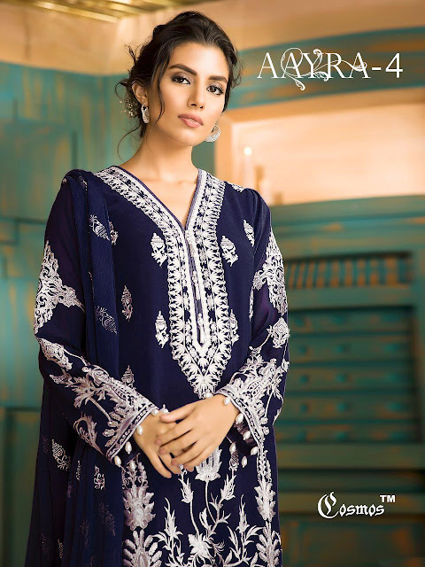 cosmsos Aayra vol 4 Georgette pakistani Suits