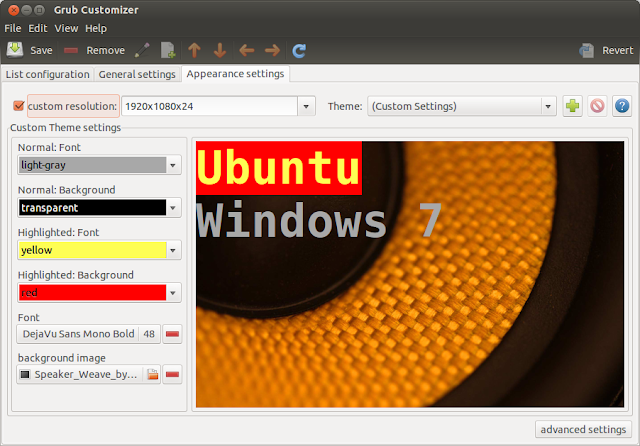 http://www.rotascadenas.com/2016/07/grub-customizer-configurar-grub-burg-en-ubuntu-y-linux-mint.html