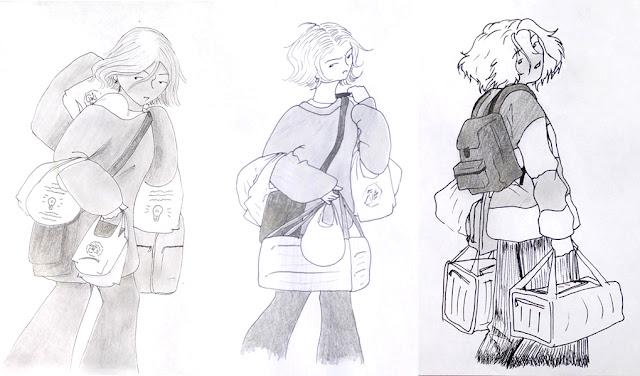 l'évolution de Rose - vieux dessins