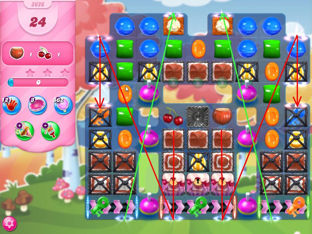 Candy Crush Saga level 3626