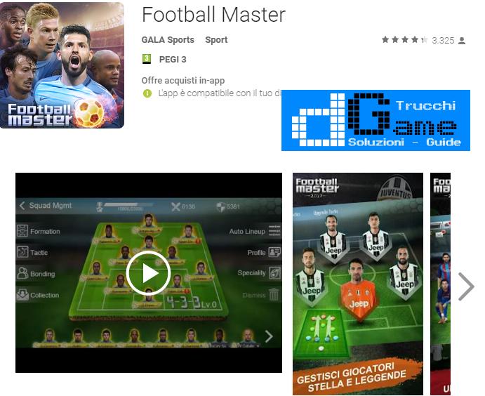 Trucchi Football Master Mod Apk Android v4.0
