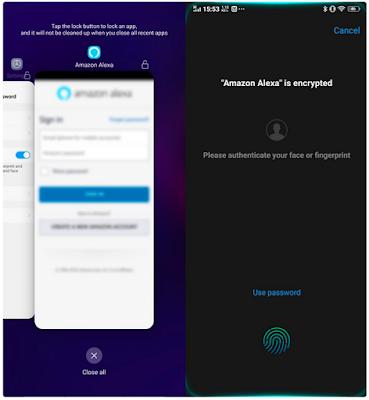 Kunci Aplikasi Memakai Face Unlock dan Sidik Jari di Vivo V11 Pro