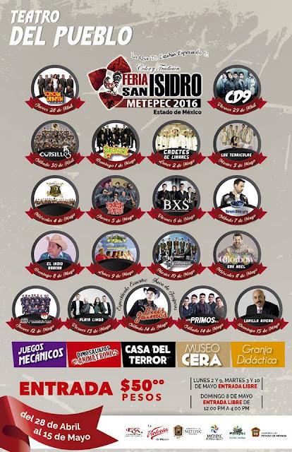 teatro del pueblo feria san isidro metepec 2016