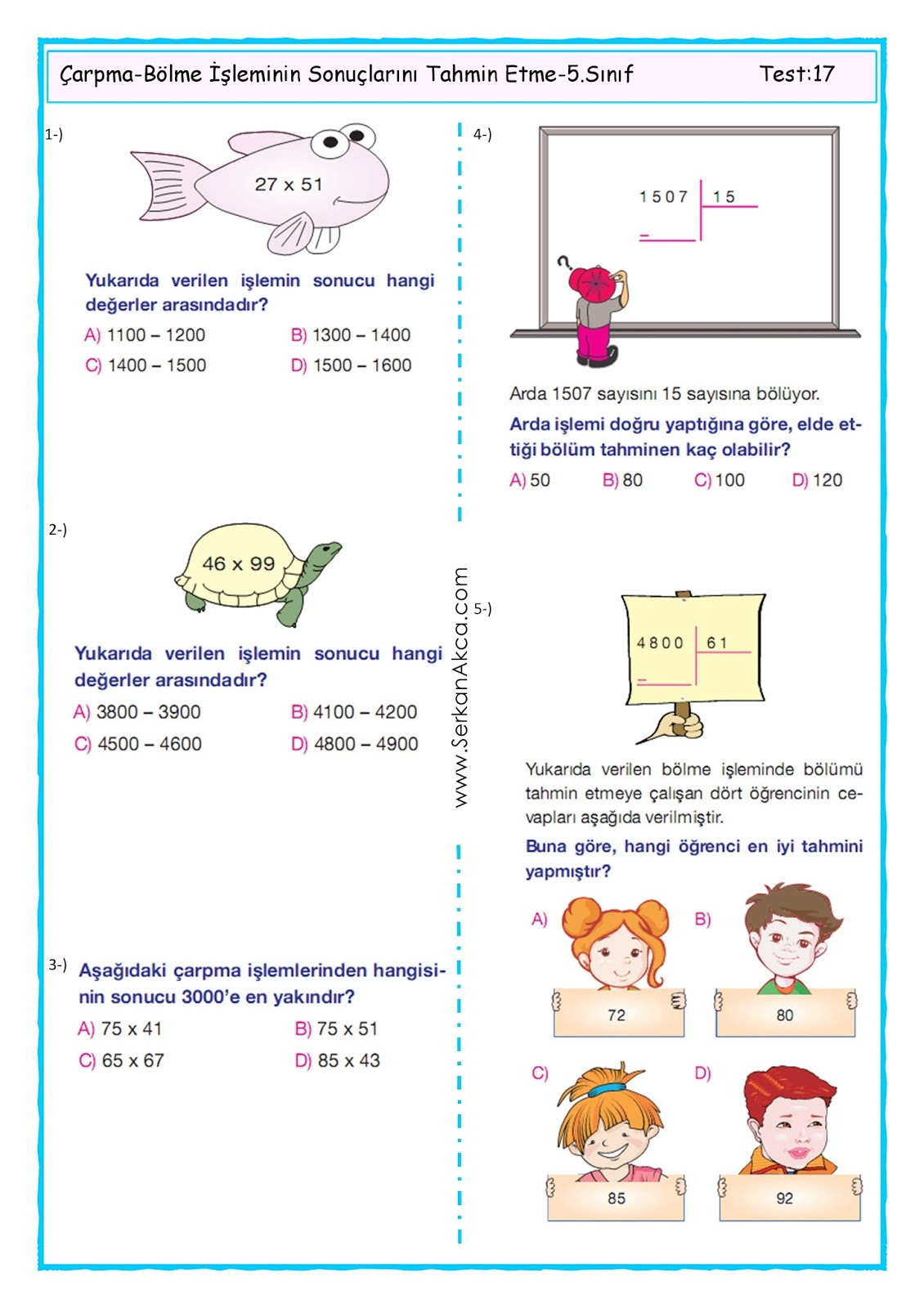 5.Sınıf-Çarpma-Bölme İşleminin Sonuçlarını Tahmin Etme-1