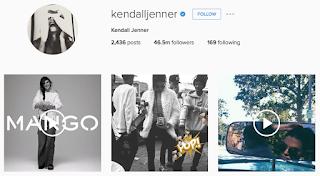 akun instagram Kendalljenner