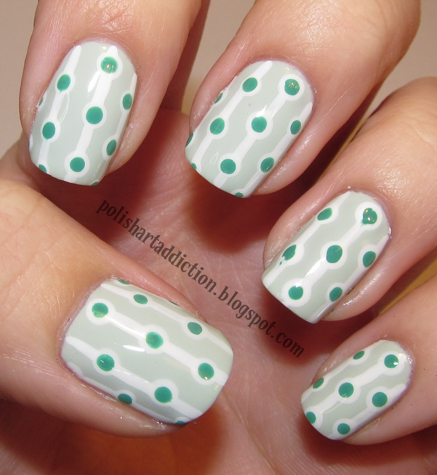 Green Retro Dots