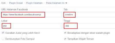membuat widget facebook