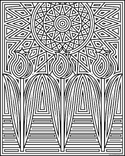 Tulips in the sun coloring page- available in jpg and transparent png format