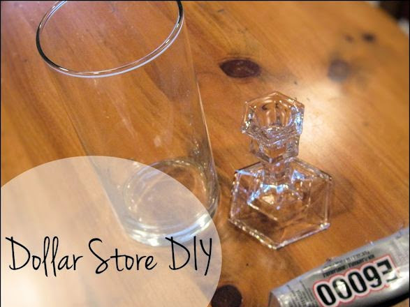 Dollar Store DIY Candle Holder