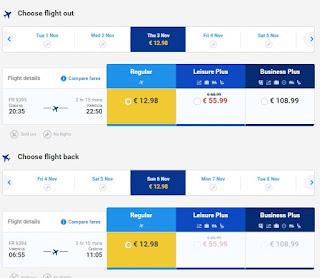 Simulare zbor Ryanair spre Valencia