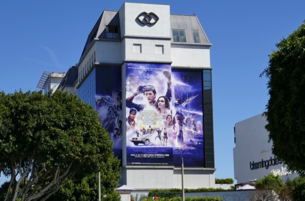 Giant Ready Player One movie billboard