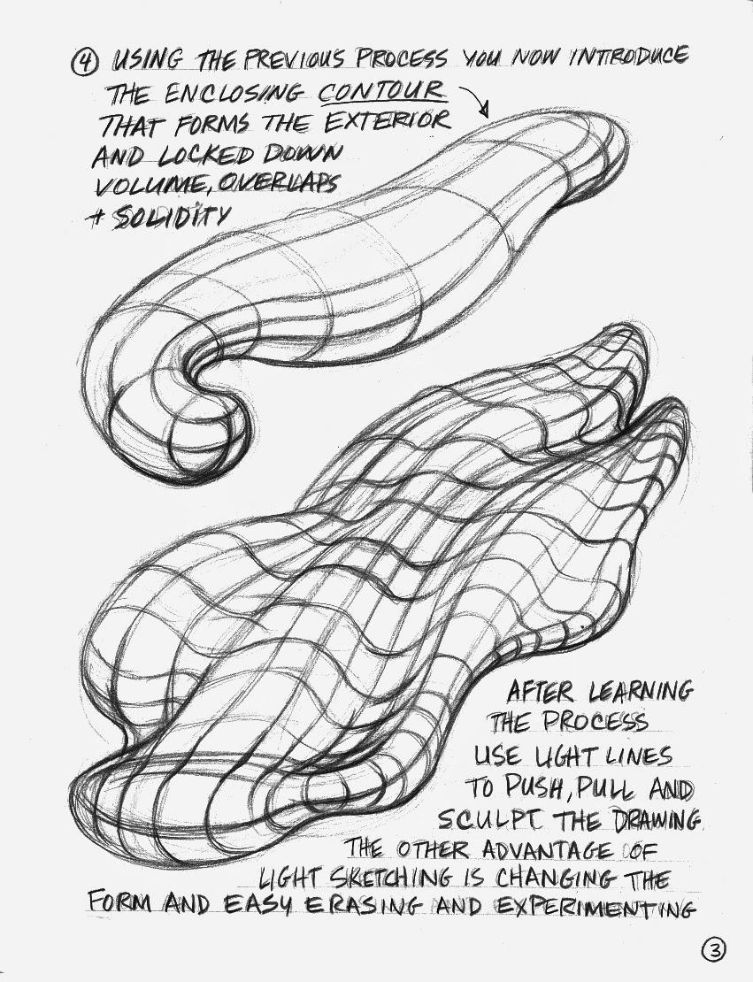 Creative Form Sketching 2015: Organic Fluid Form, Lines