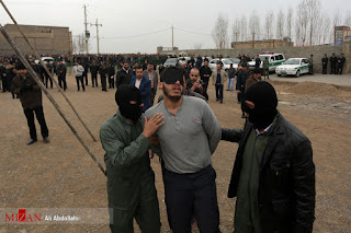 Public execution in Mashhad, Iran, January 28, 2017