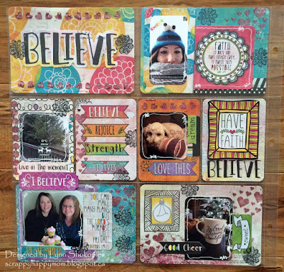 Believe Misc.Me Pages by Lynn Shokoples for BoBunny featuring the Believe Collection