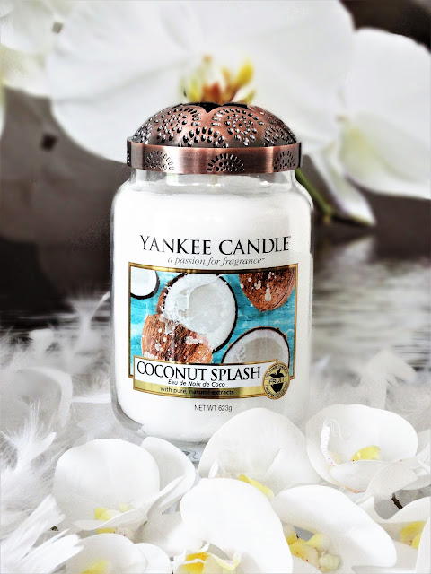 avis Coconut Splash de Yankee Candle, nouveau parfum yankee candle, blog bougie, bougie parfumee, new yankee candle, bougie noix de coco, illuma lid warm rustic