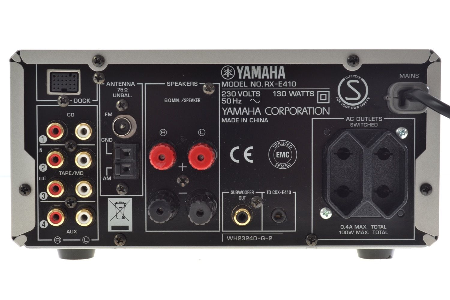 yamaha rx e410 stereo receiver audiobaza. Black Bedroom Furniture Sets. Home Design Ideas