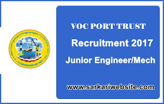 Junior Engineer/Mech Recruitment in VOC Port Trust