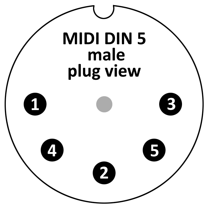 midi cable optoinsulated schematic 1