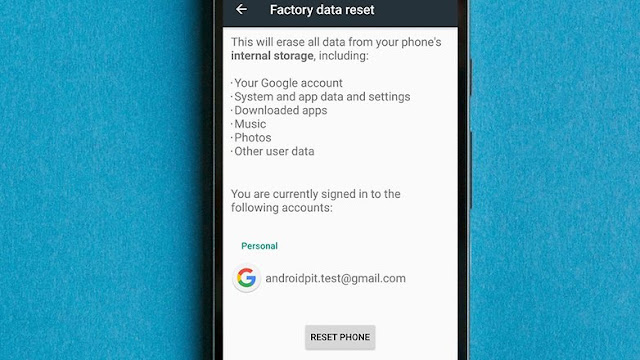 Factory Reset and Backup data