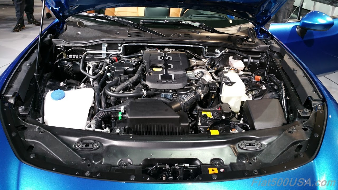 Fiat 124 Spider Engine Compartment