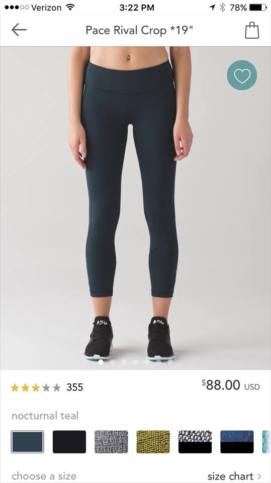 lululemon nocturnal-teal-pace-rival-crop