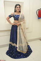 Niveda Thomas in Lovely Blue Cold Shoulder Ghagra Choli Transparent Chunni ~  Exclusive Celebrities Galleries 047.JPG