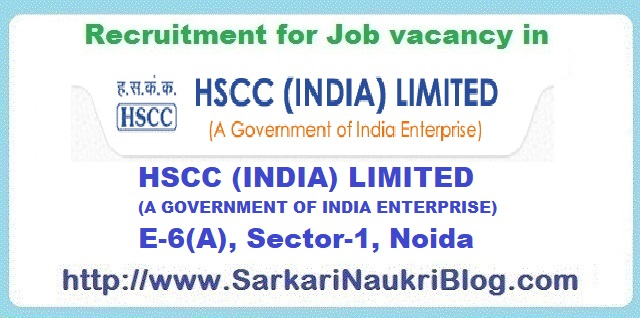 Naukri Vacancy Recruitment HSCC Limited