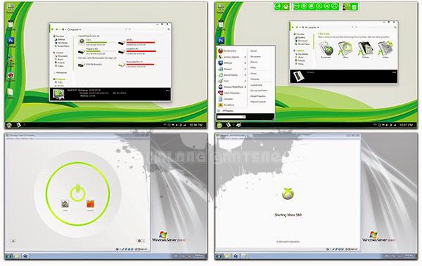 Screenshot metro Xbox skin pack hanya untuk windows 7