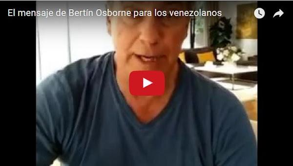 Bertín Osborne llama a Maduro gordo ladrón miserable