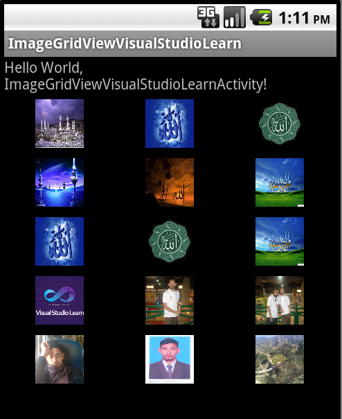 Show images in Grid View in android