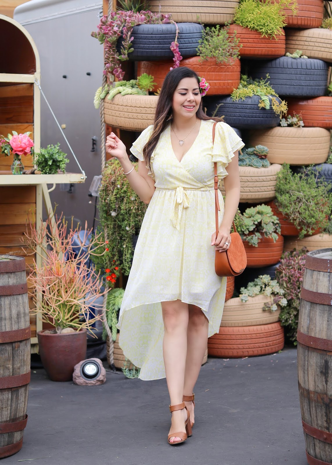 San Diego Fashion Blogger, Yellow Casual Dress from JCPenney