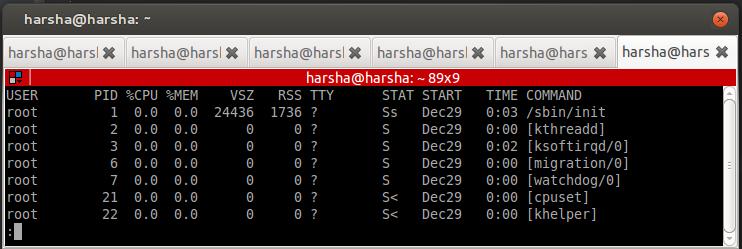 find process linux