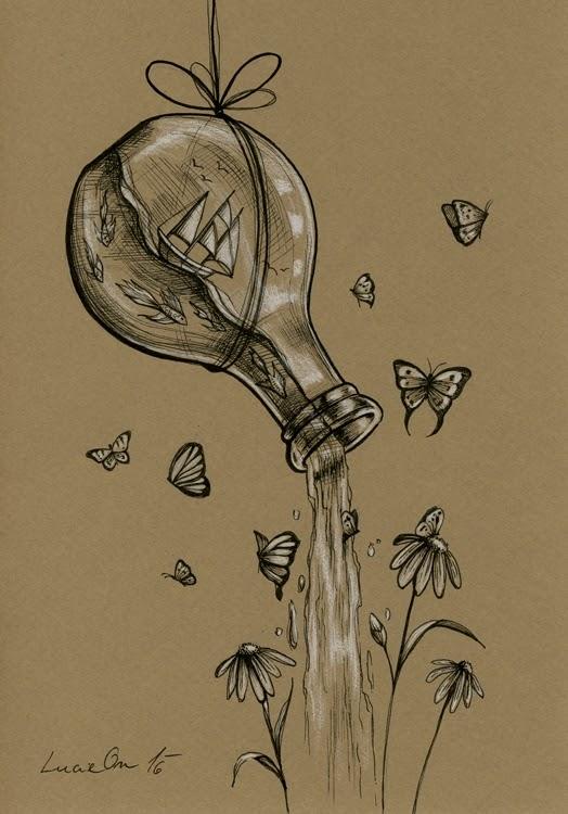 04-Rebirth-Lucie-Ondruskova-LucieOn-A-Glimpse-of-Fairyland-Animals-in-Drawings-www-designstack-co